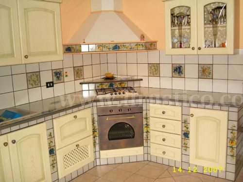 Kitchen ceramic | ilrustico.com - cucine in muratura caltagirone